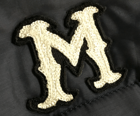 M Patch - Chain Stitch -